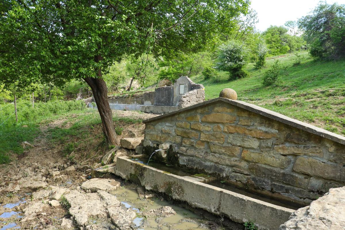 Двете чешми за връх Арковна от с. Партизани.